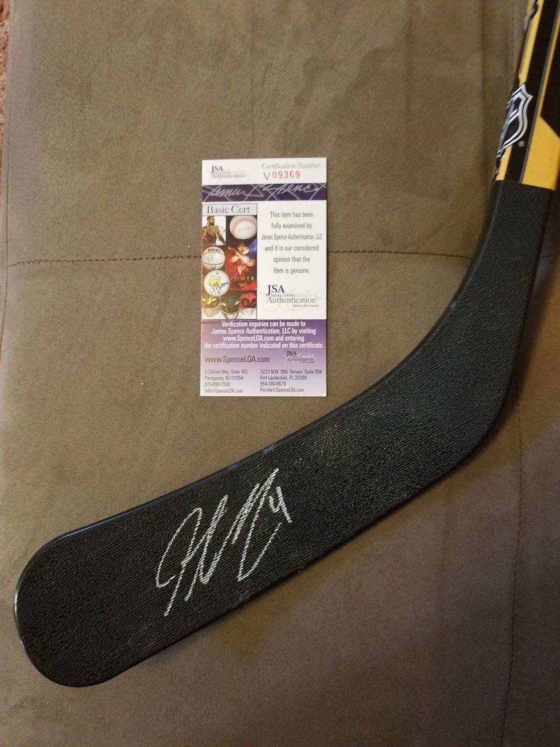 Justin Schultz Autographed Signed Pittsburgh Penguins Stick JSA Authentic Memorabilia
