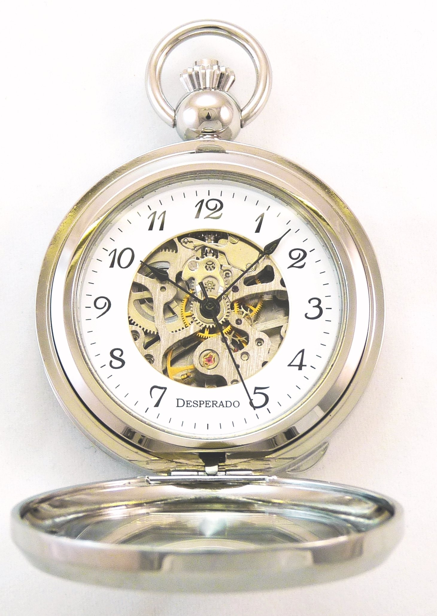 Desperado''Seaside'' Chrome Photo Insert Picture Frame Pocket Watch Built in Stand by Desperado (Image #2)