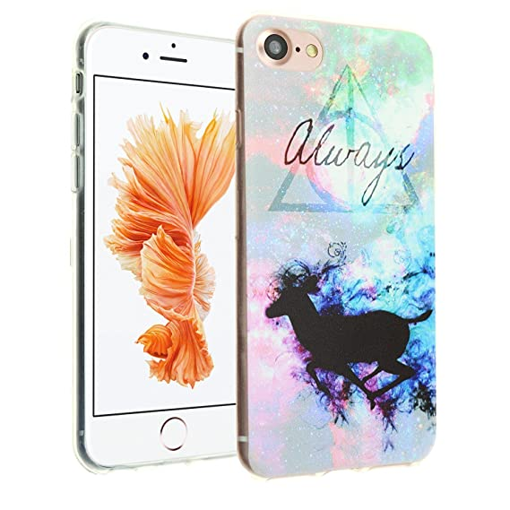iPhone 8 Harry Potter Clear Case, IMAGITOUCH Harry Potter Deer Deathly  Hallows Always Case Anti-Scratch Shock Proof Soft Touch Slim Fit Flexible  TPU
