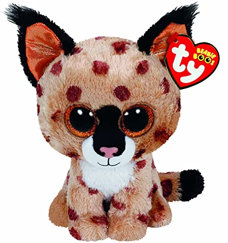 dad871ad67b Amazon.com  TY Beanie Boo Plush - Buckwheat the Lynx 15cm  Toys   Games