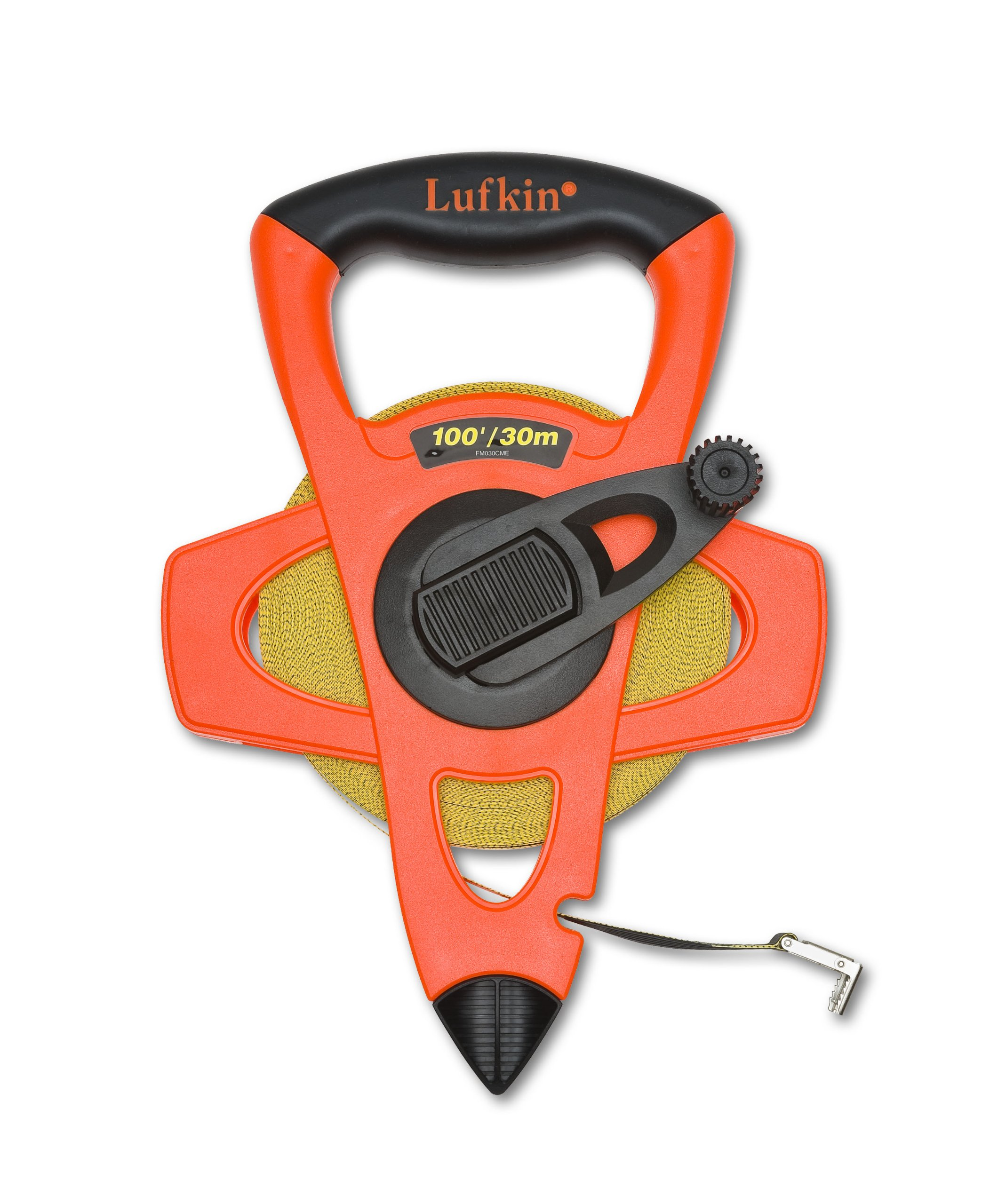 Lufkin FM030CME 2-Sided Metric/English 13mm 1/2-Inch by 30m 100-Foot Hi-Viz Orange Fiberglass