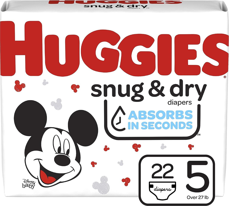 Huggies Snug & Dry Baby Diapers, Size 5, 22 Ct