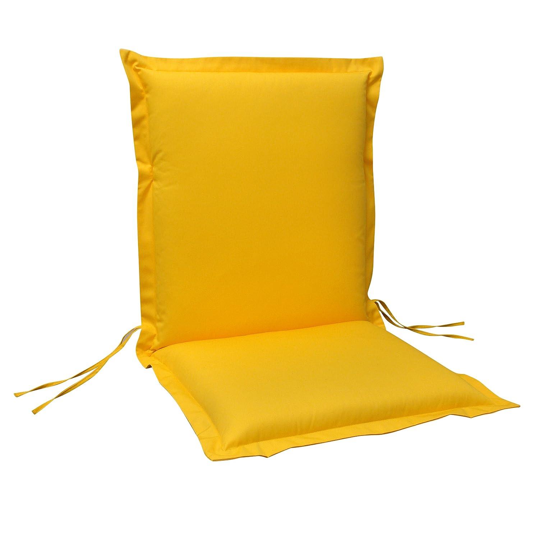 indoba® IND-70441-AUNL-6 - Serie Premium - Gartenstuhl Auflage - Niedriglehner, extra dick, Gelb - 6 Stück