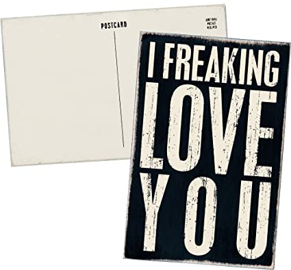 Amazon I Freaking Love You Mailable Wooden Greeting Card For