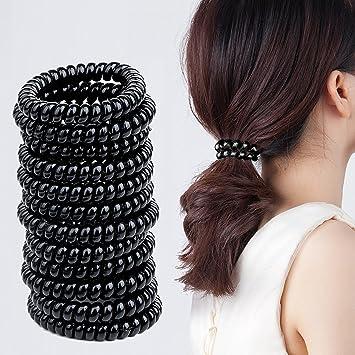 Spiral Haargummis Meersee 20 Stück Große Telefonkabel Haargummi