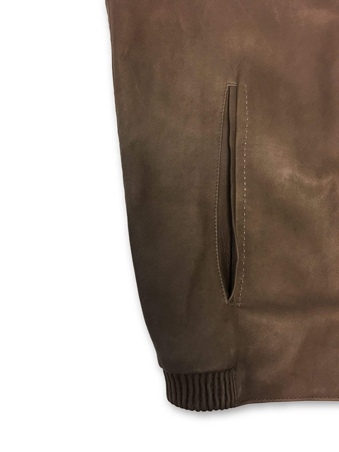 Pal Zileri Sartoriale Leather Jacket in Caramel Brown - Size 42R Leather: Amazon.es: Ropa y accesorios