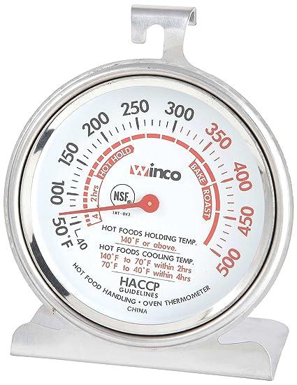 a3fe2971507a8 winco 3 pulgadas Dial Termómetro de horno con panel de gancho y base ...
