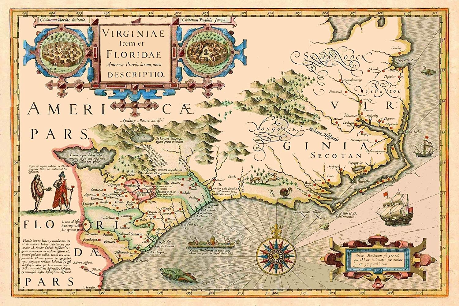Amazon Com Magnet 1620s Vintage Style Virginia Colony Map Magnet