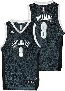 adidas Brooklyn Nets NBA Big Boys Deron Williams   8 Crazy Light Swingman  Jersey - Black 62bbe1be0