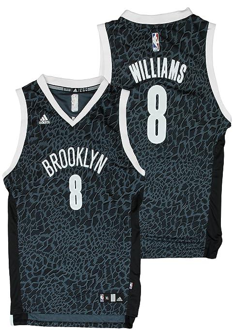 48833bb96141 adidas Brooklyn Nets NBA Big Boys Deron Williams   8 Crazy Light Swingman  Jersey - Black