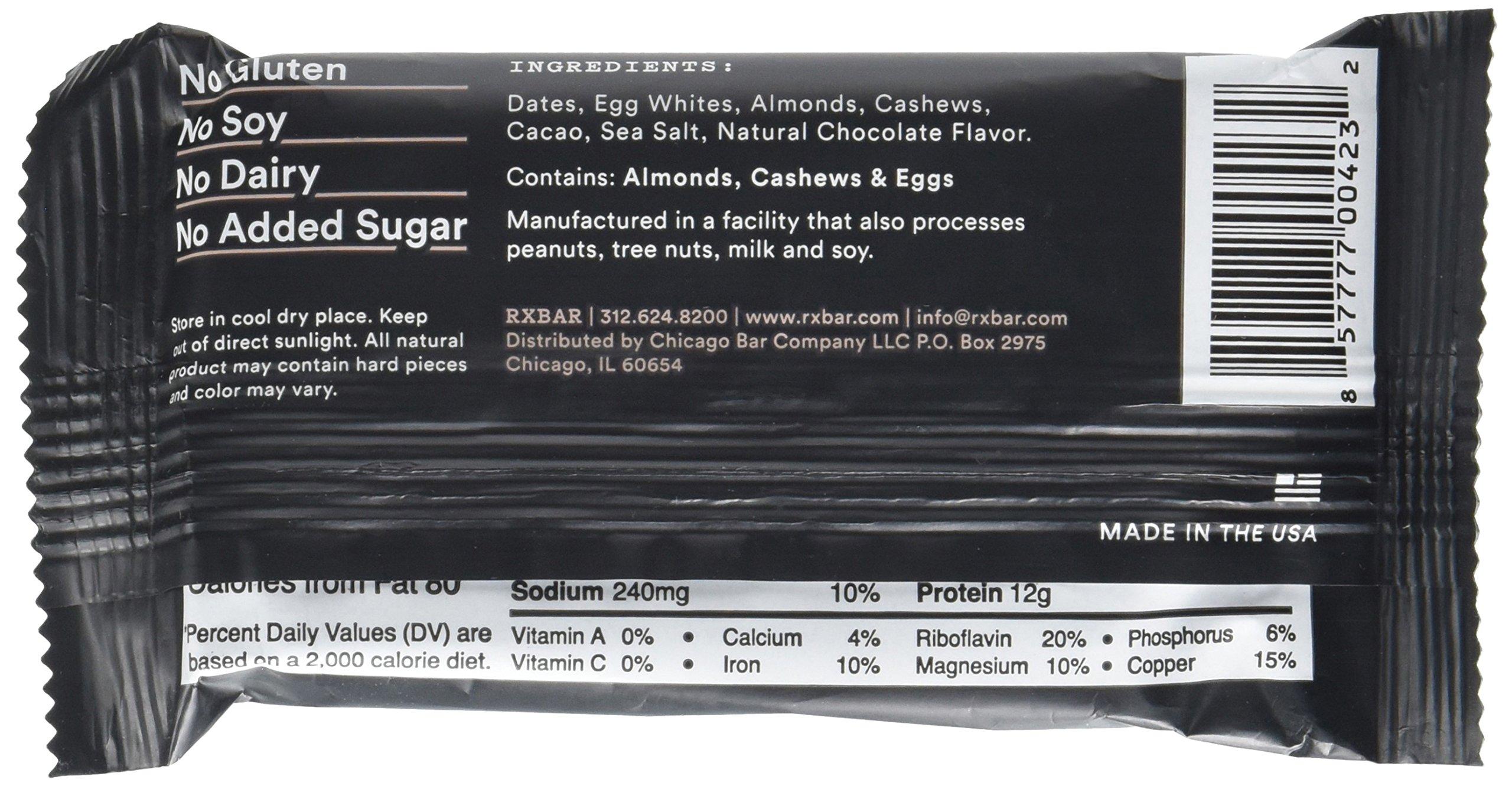 Rx Bar Chocolate Sea Salt, Protein Bar, 1.83 Oz, 12 Count by RXBAR (Image #4)