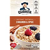 Quaker Instant Oatmeal, Cinnamon and Spice, 10 ct