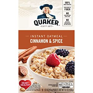 Quaker, Instant Oatmeal, Cinnamon and Spice, 10 Ct