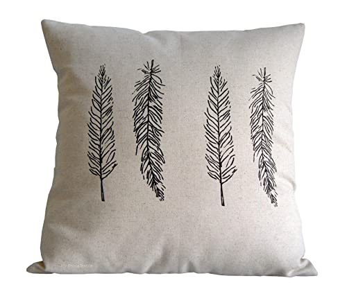 Cojín Plumas de lino algodón, medida 40 x 40 cm, diseño de ...