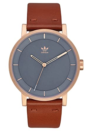 2884398d66205 Adidas Watches District_L1. Genuine Leather Strap Watch, 20mm Width (40mm)