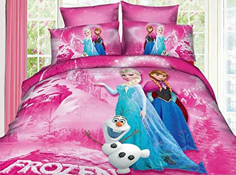 Amazon.com: Children\'s Bedding Princess Elsa Anna Frozen Bedding Set ...
