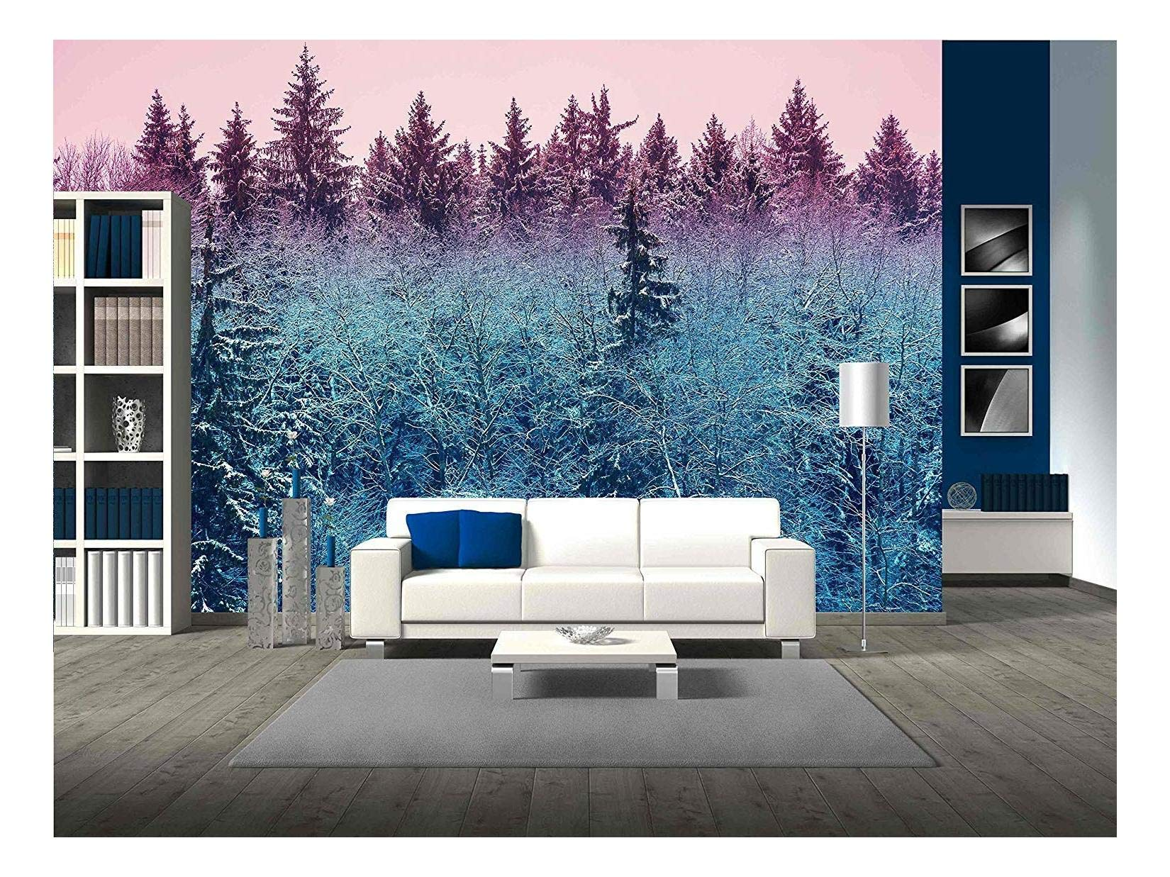 wall26 - Fir Forest in Early Morning - Removable Wall Mural | Self-Adhesive Large Wallpaper - 100x144 inches by wall26 (Image #1)