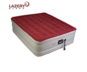 Lazery Sleep Air Mattress – Raised Electric Airbed With Built In Pump & Carry Bag – Fast Inflation, LED Remote Control & 7 Firmness Settings – Queen
