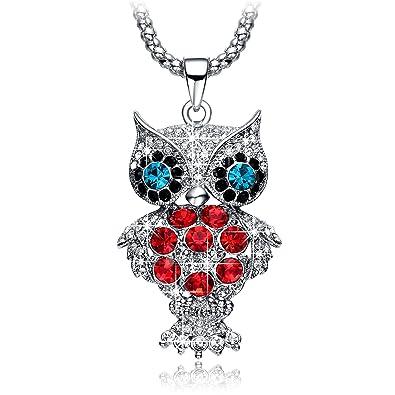 collier avec pendentif cristal hibou ou chouette