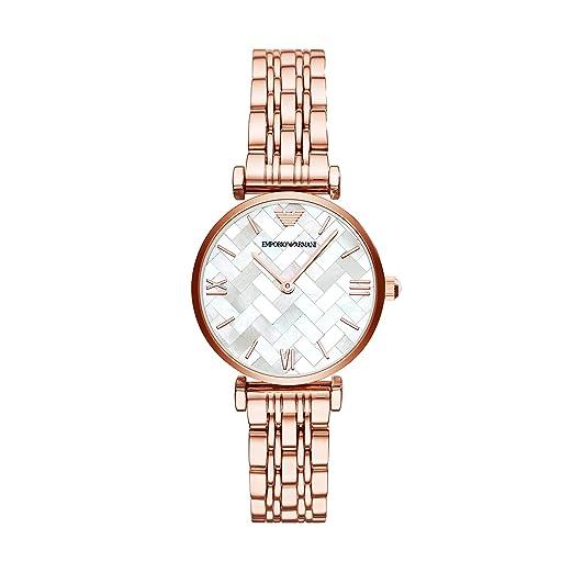 Emporio Armani Reloj Analogico para Mujer de Cuarzo con Correa en Acero Inoxidable AR11110: Amazon.es: Relojes