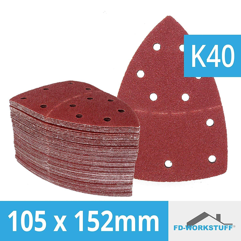 Lot de 25 feuilles abrasives 105 x 152 mm Grain 40