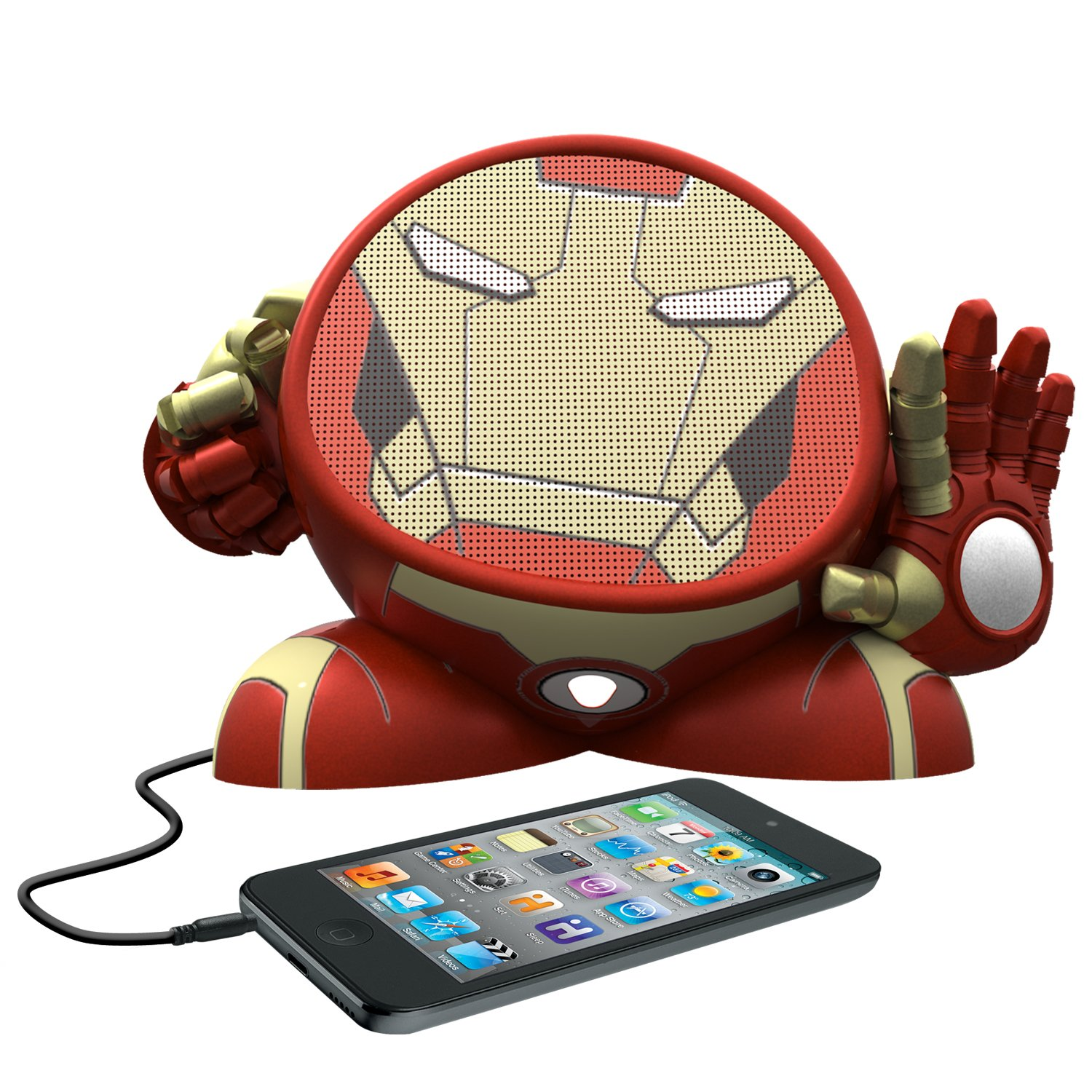 Avengers Iron Man Rechargeable Character Speaker, MR-M662 by eKids