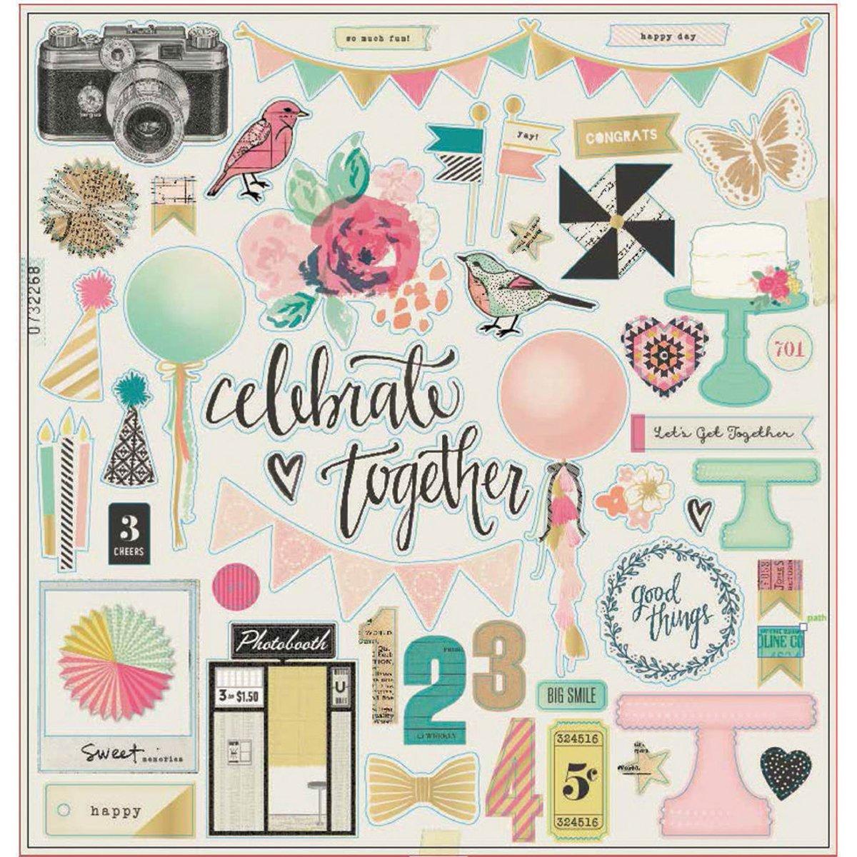 Crate Paper 683694 Maggie Holmes Confetti Chipboard American Crafts