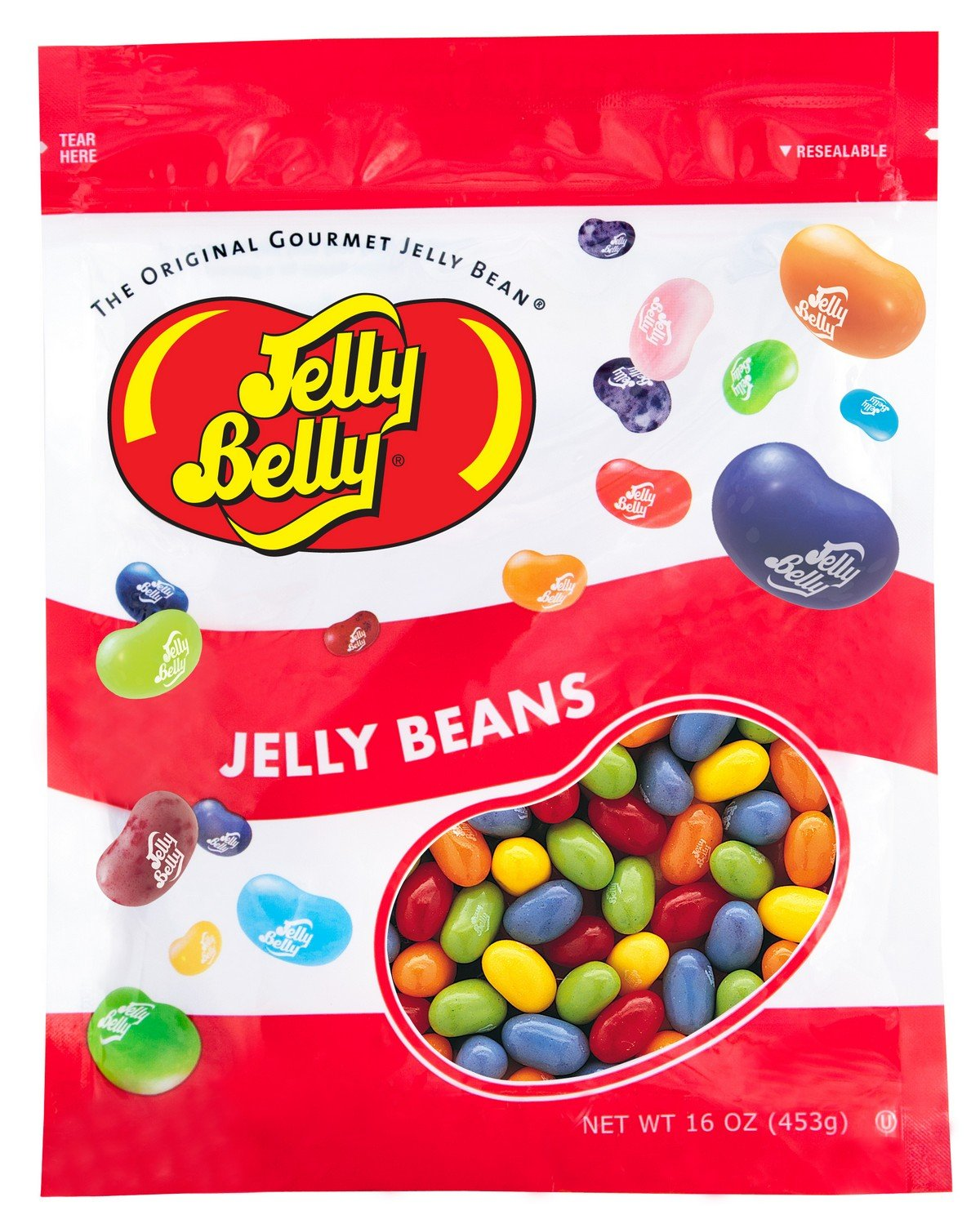 Jelly Belly Sours Mix 5 Flavors Jelly Beans - 1 Pound (16 Ounces) Resealable Bag - Genuine, Official, Straight from the Source