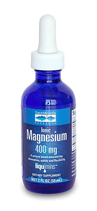 Trace Minerals Research Ionic Magnesium - 4 oz - Can Help with Muscle Cramps and Muscle Fatigue - Naturally Sourced and 100% Natural