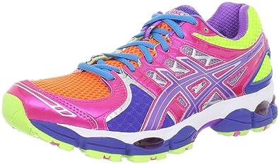 9d9903c7 ASICS Women's Gel-Nimbus 14 Running Shoe, Light Bright/Grape/Pink, 7 ...