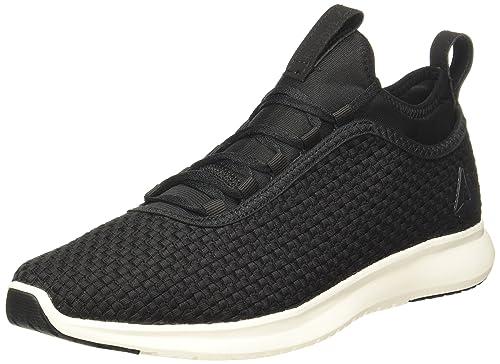 9b97dfb65 Reebok Men s Plus Runner Woven Black Chalk Running Shoes - 10 UK India (