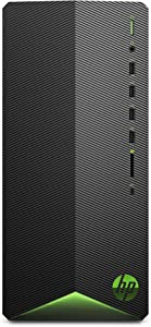 HP Pavilion Gaming Desktop Computer, AMD Ryzen 5 3500 Processor, AMD Radeon Rx 5500 4 GB, 8 GB RAM, 512 GB SSD, Windows 10 Home (TG01-0040, Black)