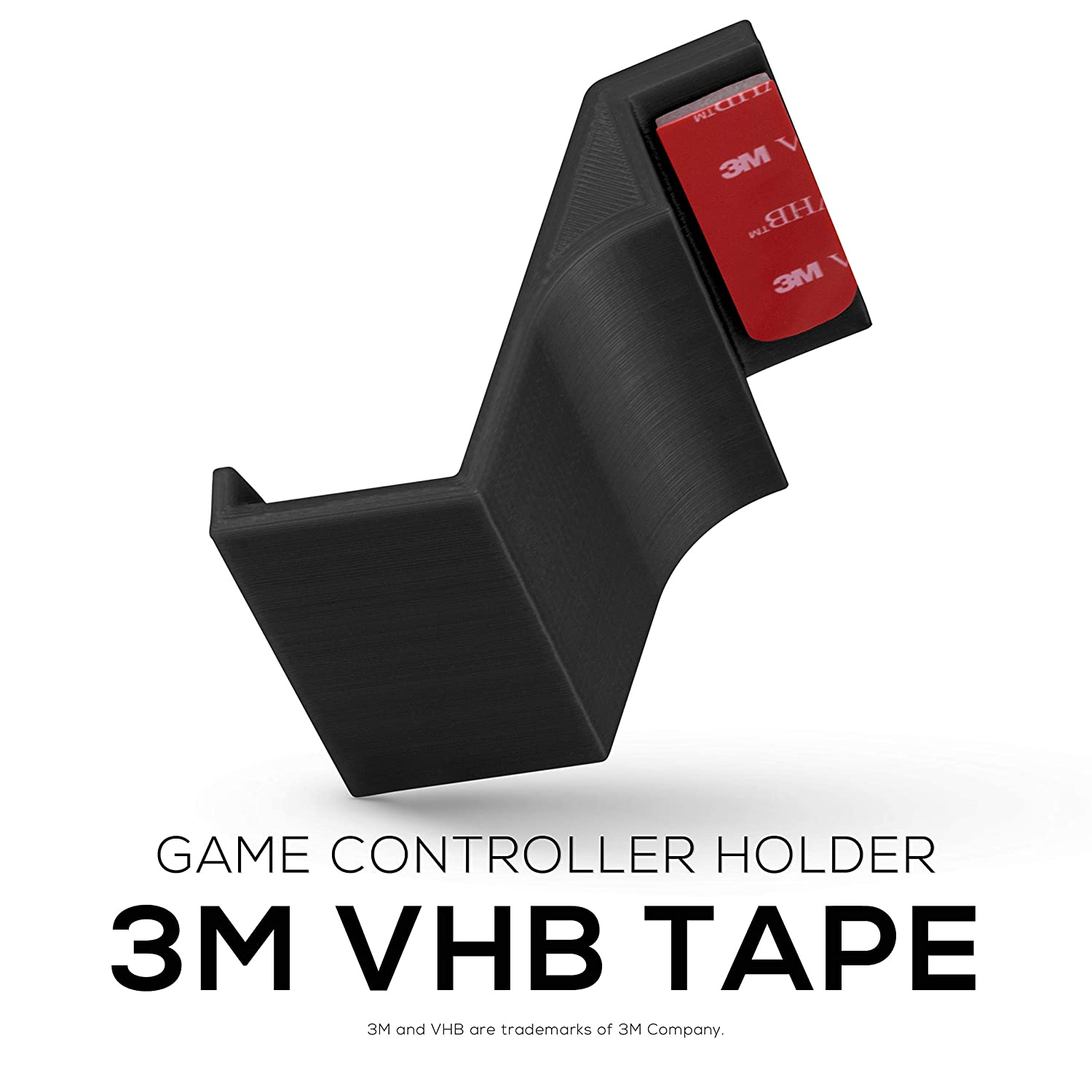 Game Controller Desktop Stand Holder (2 Pack) for XBOX ONE 360 SWITCH PS4 STEAM PC NINTENDO, Universal Gamepad Accessories - No screws, Stick on, Black By Brainwavz: Video Games