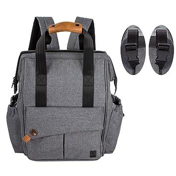 ALLCAMP Mochila de pañales, estilo versátil resistente al agua bolsa de pañales para bebés, gran capacidad de pañales cambiador de bolsa, organizador ...