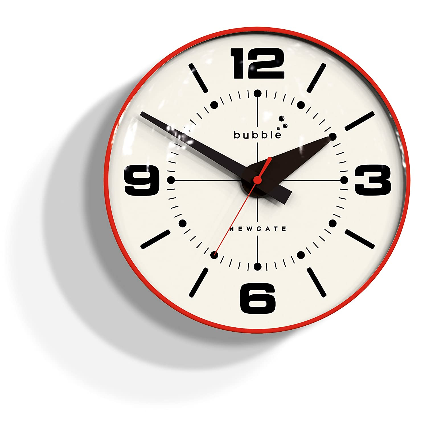Newgate Bubble Wall Clock - Red Body