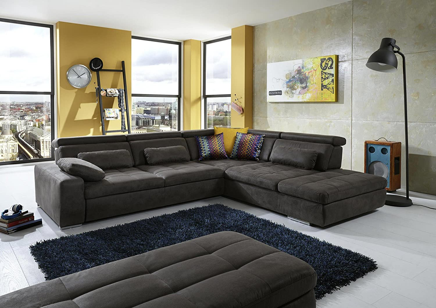 Loungesofa Sofagarnitur Sofa Couchgarnitur Couch Wohnlandschaft Look