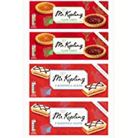 Bundle of 4 - Mr Kipling, Jam Tarts, 6ct Package x 2 - Packs Mr Kipling Bakewell Slices 6ct Package x 2 Delivers 3-5 Days USA