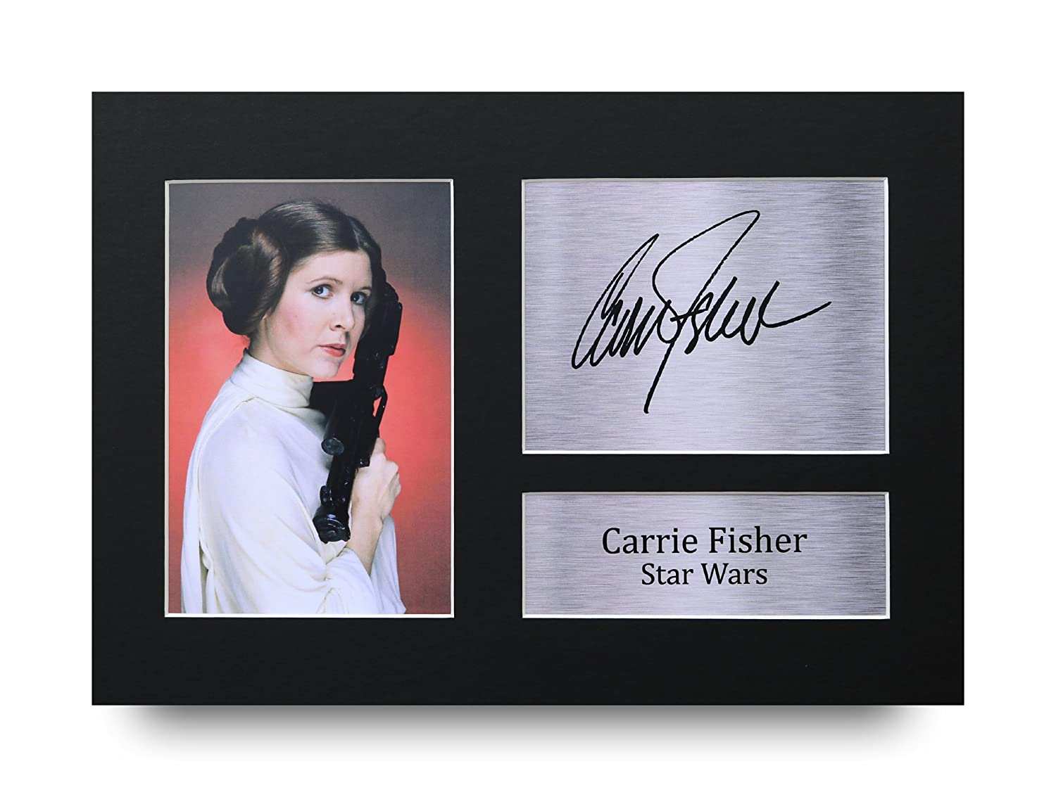 HWC Trading Carrie Fisher Gift Signed A4 Printed Autograph Star Wars Gifts Print Photo Picture Display