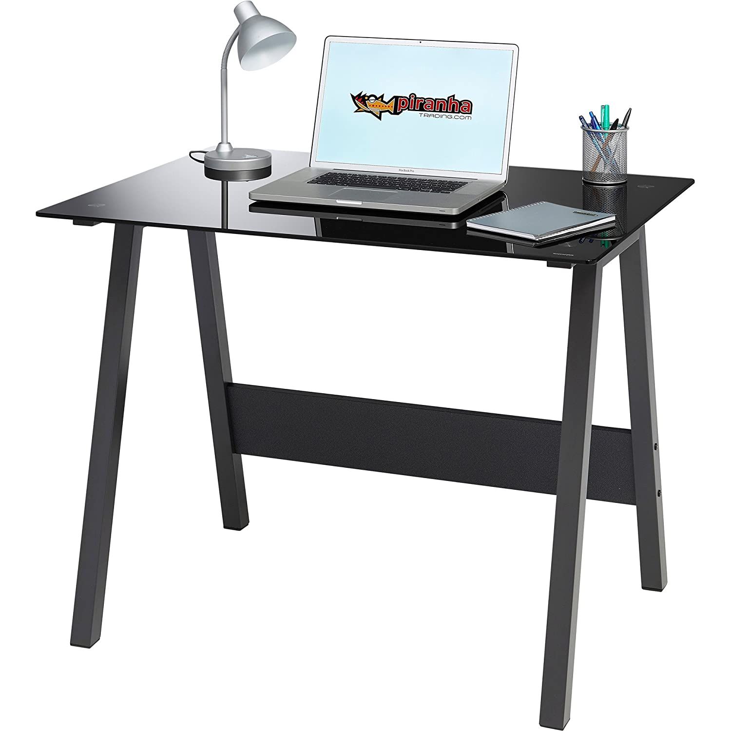 small office furniture. simple small genuine piranha barbel compact toughened black glass computer desk home office  furniture pc 7bg amazoncouk kitchen u0026 in small