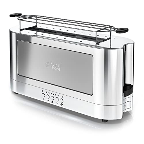 Russell Hobbs TRL9300GYR 2-Slice Glass Accent Long Toaster