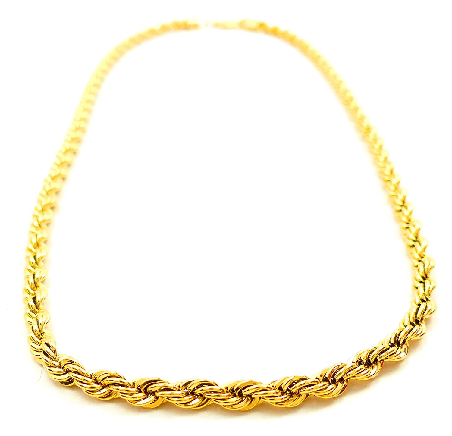 Goldkette gangster damen  hochwertige Goldkette edle HipHop Gangster Gold Chain Karneval ...