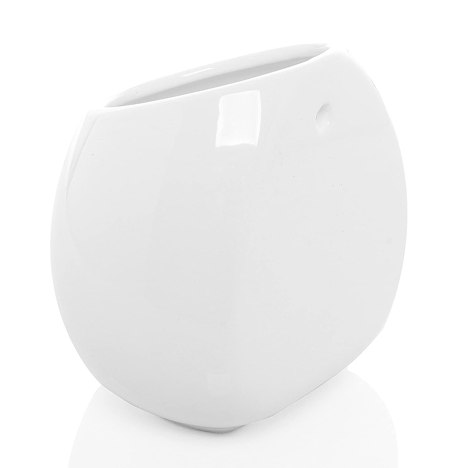 Amazoncom 6 Inch White Ceramic Wall Mounted, Hanging Or Freestanding