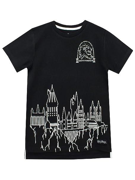 25798d665 Amazon.com: HARRY POTTER Boys' Hogwarts T-Shirt: Clothing