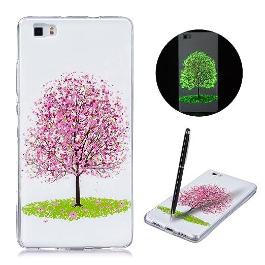 30 opinioni per CaseLover Huawei P8 Lite Cover Custodia Morbida Silicone Fluorescente in Dark