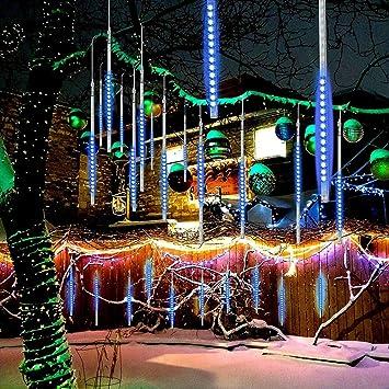 360 LEDs Waterfall Light per Natale//Esterno//Albero//Casa//Giardino//Allaperto Decorazione Color ZXY Doccia Pioggia Luci 50Cm 10 Impermeabile Tubo Luci della Pioggia di Meteore