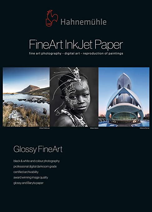 350/g//m/² Hahnem/ühle Digital Fine Art Baryta Fb Papel color blanco brillante 210 x 297 mm