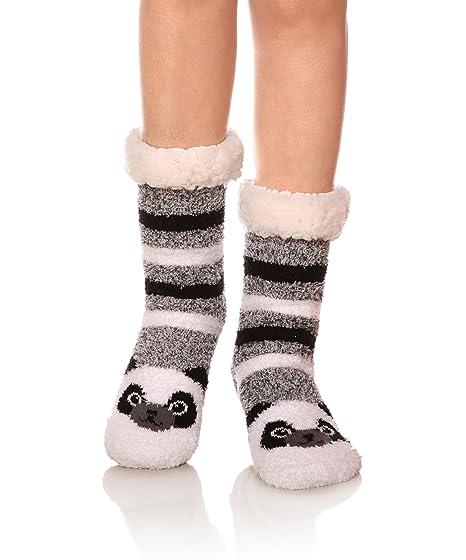 DOFUN - Zapatillas de estar por casa de Forro polar para mujer Animal Panda Talla única: Amazon.es: Ropa y accesorios