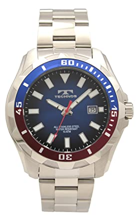 eebe59eef7 Amazon | [テクノス]TECHNOS 腕時計 3針 10気圧防水 デイト T2599NR ...