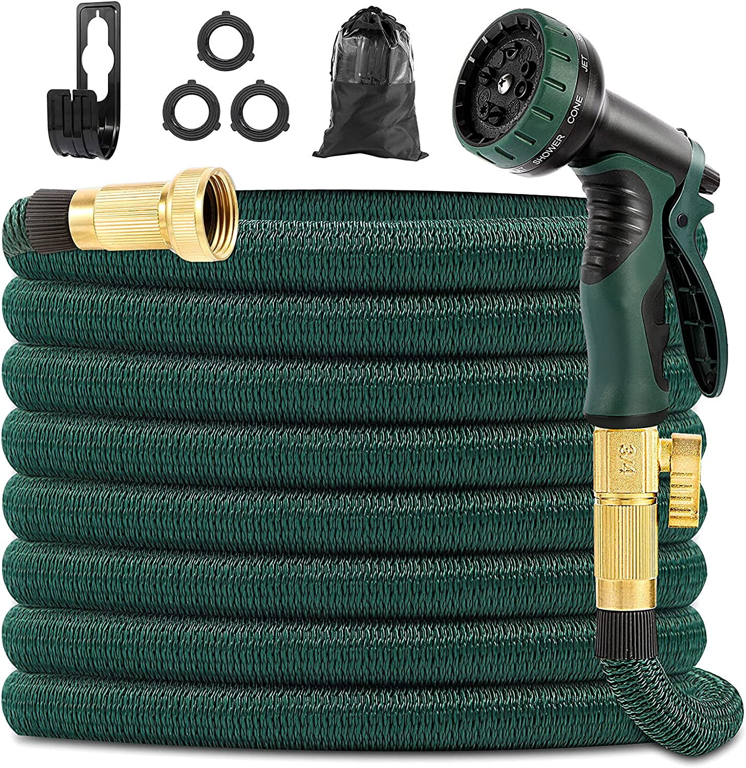 Yeenuo Expandable Garden Hose 50ft with 10 Function Nozzle- 3/4