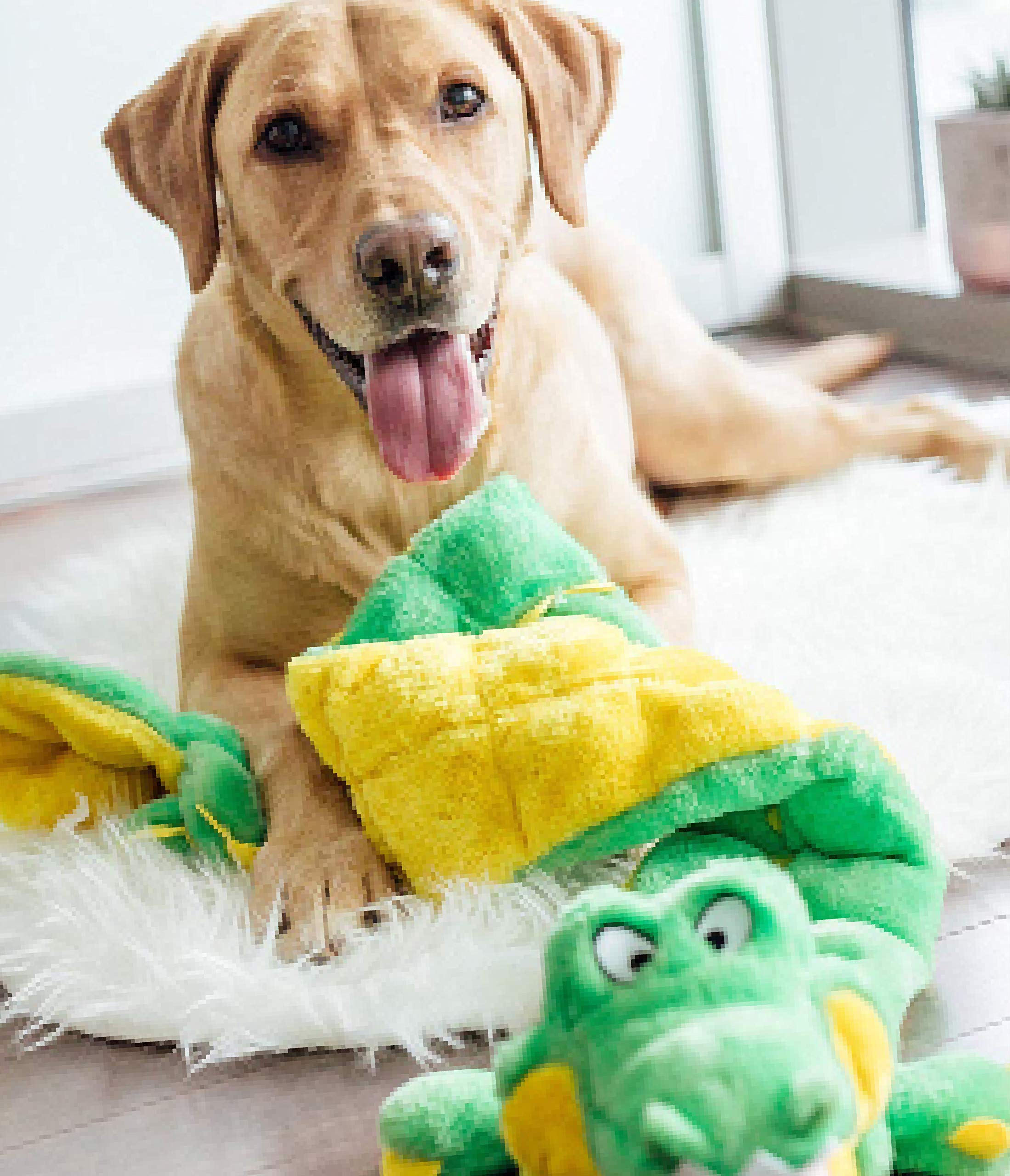 Outward-Hound-Squeaker-Matz-Squeaky-Dog-Toy-Interactive-Cuddly-Gator-Soft-Toy-for-Dogs-Tough-Durable-Plush-Fluffy-Toy-for-Awesome-Pets